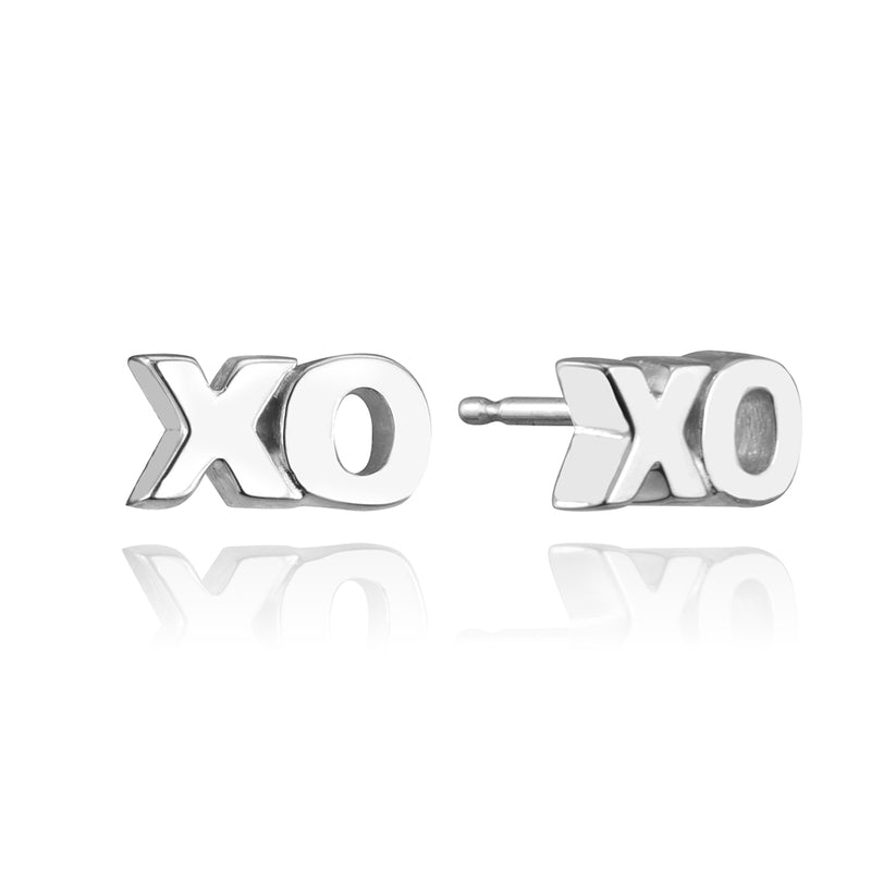 stud collection XO stud in 14 karat white gold