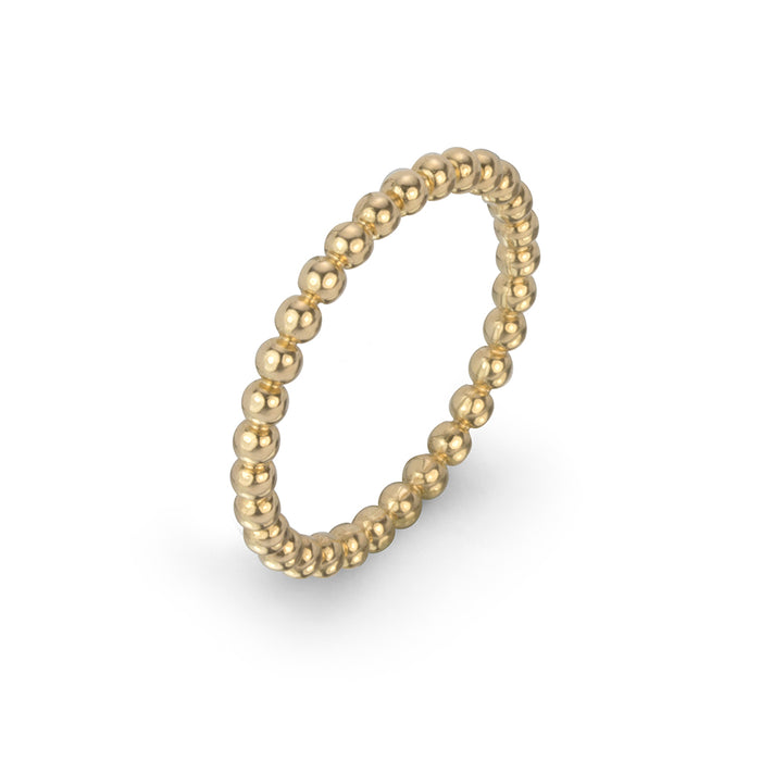 lafia goddess bead stacking ring yellow gold