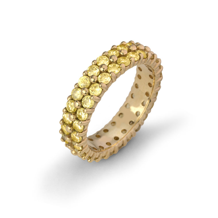CANARY DIAMOND DOUBLE ETERNITY RING