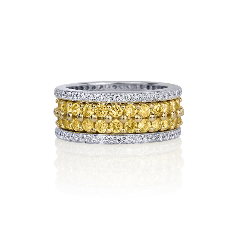 lafia goddess canary diamond double eternity ring