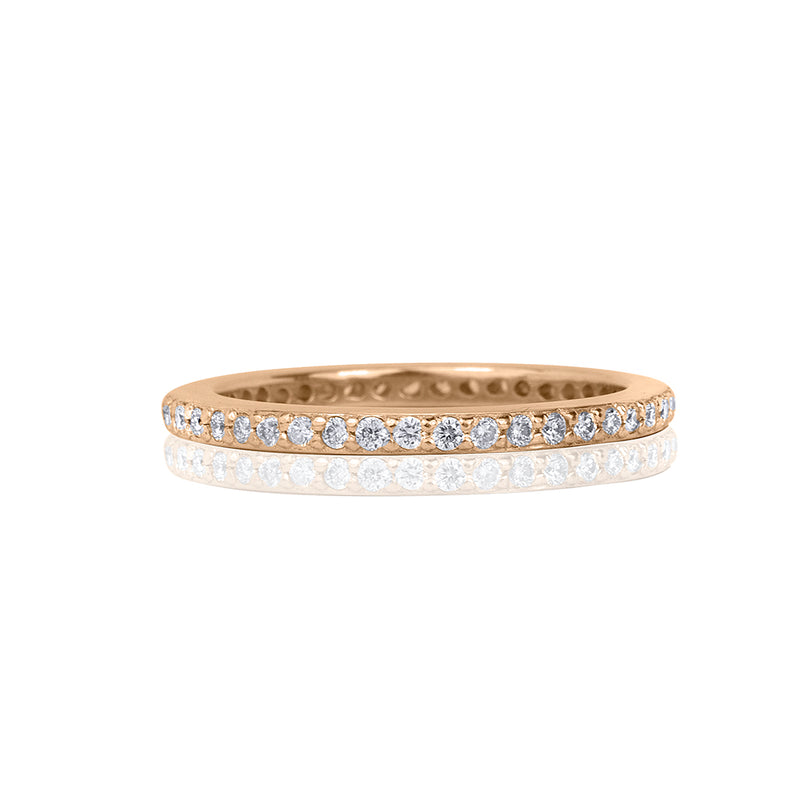 lafia goddess channel set diamond eternity ring rose gold