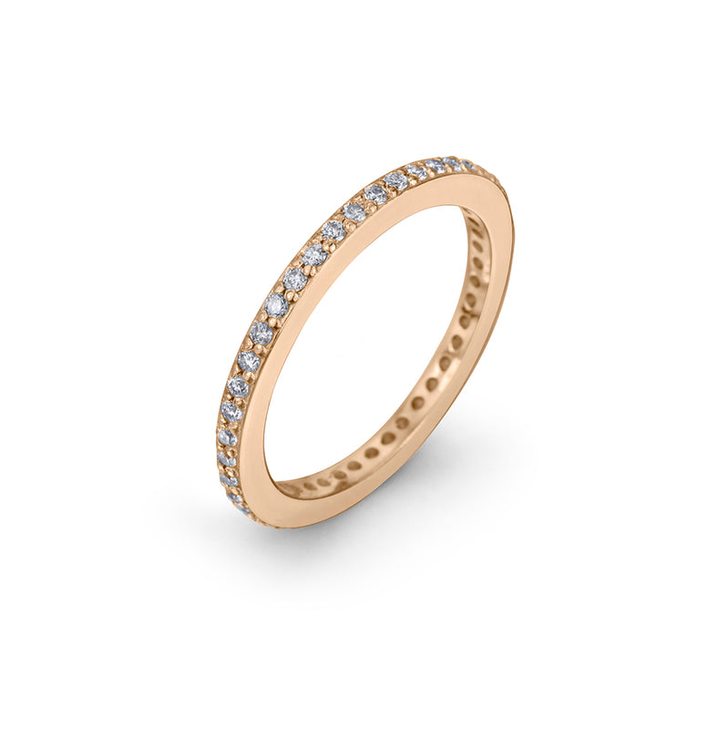 lafia goddess channel set diamond eternity ring angle