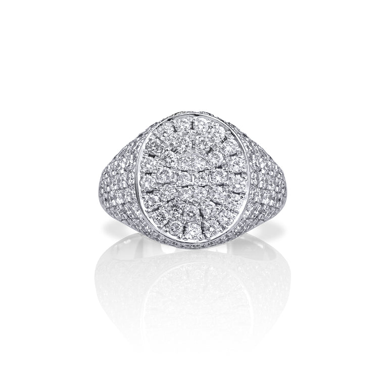 CLASSIC DIAMOND SIGNET RING