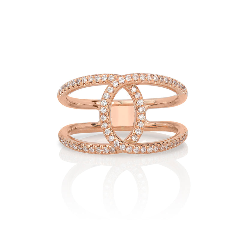 lafia goddess crossover ring rose gold
