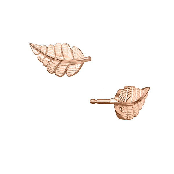 lafia goddess diamond feather stud rose gold