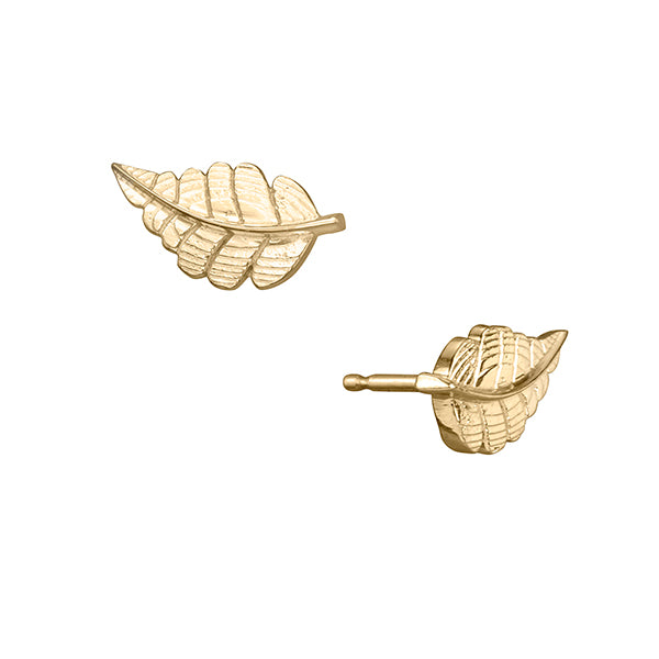 lafia goddess diamond feather stud yellow gold
