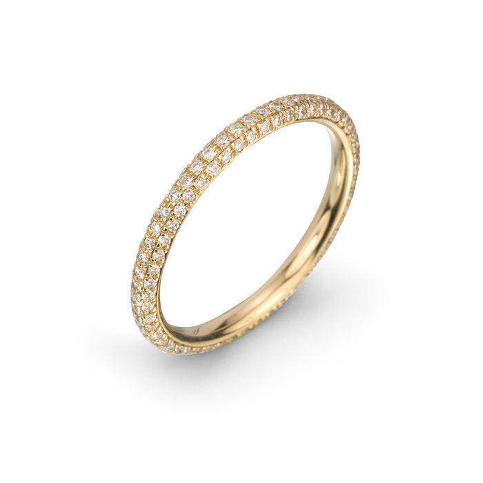 lafia goddess micropave diamond eternity ring yellow gold