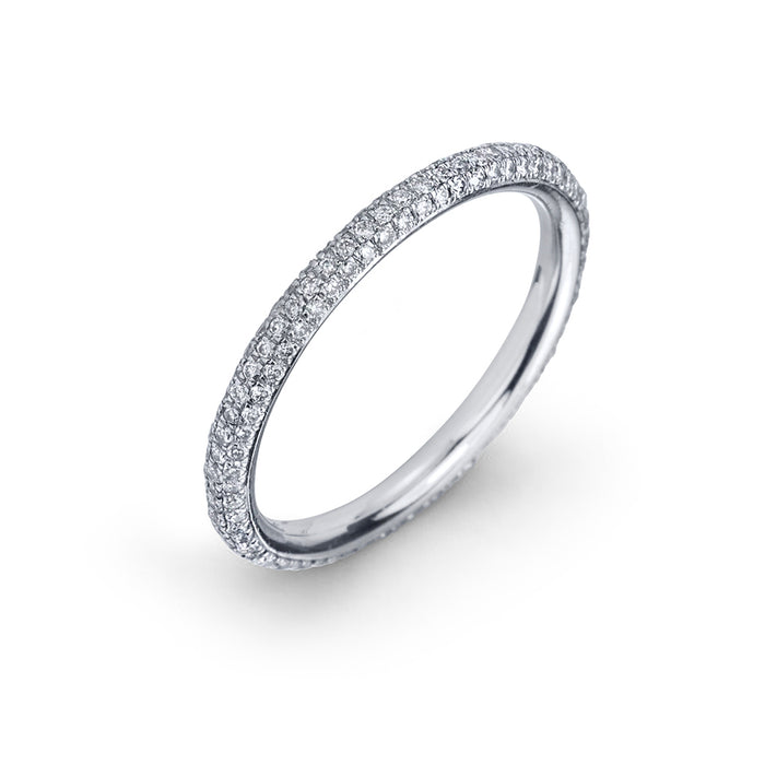 lafia goddess micropave diamond eternity ring white gold