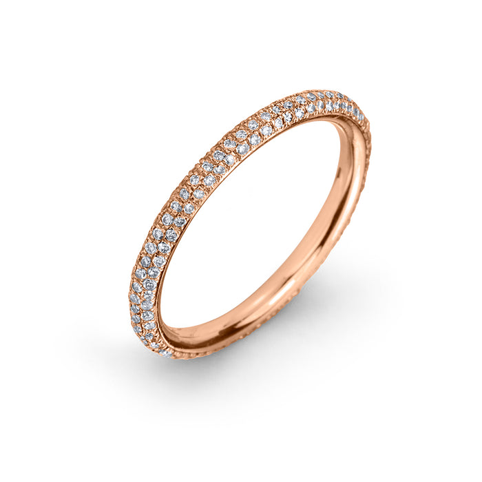 lafia goddess micropave diamond eternity ring rose gold