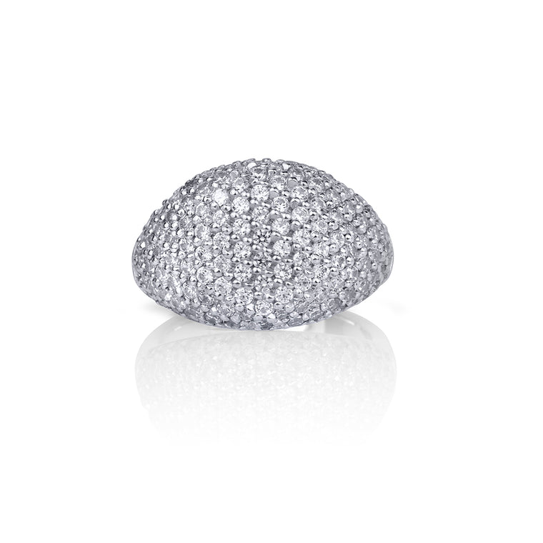 MODERN DIAMOND SIGNET RING