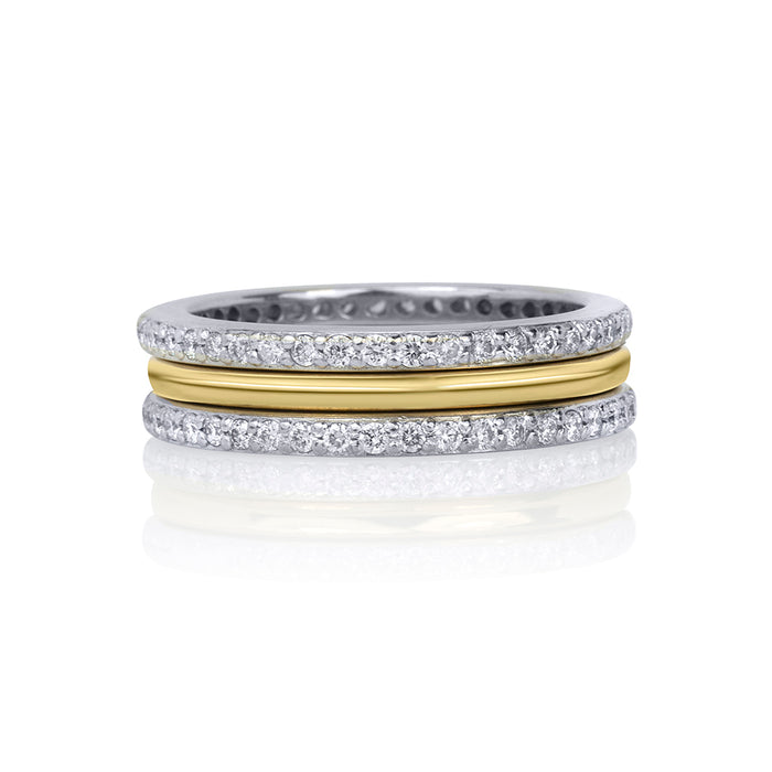 lafia goddess modern stacking ring in stack