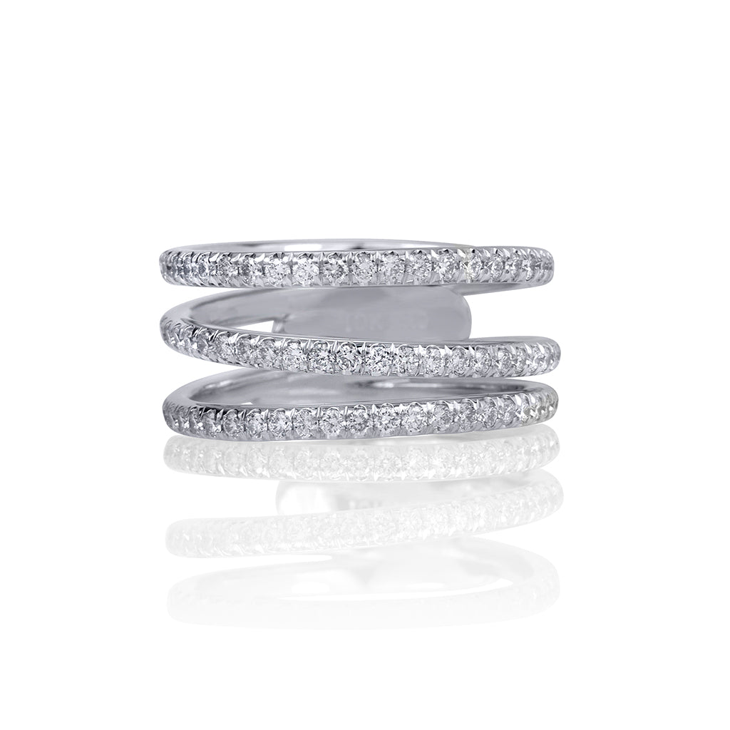 lafia goddess modern triple eternity ring white gold