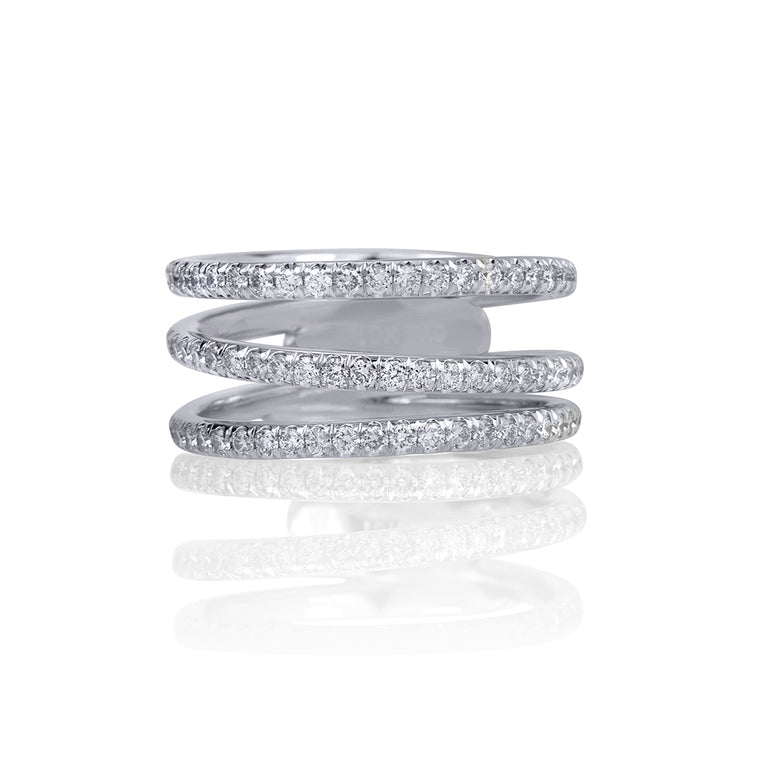 MODERN TRIPLE ETERNITY RING