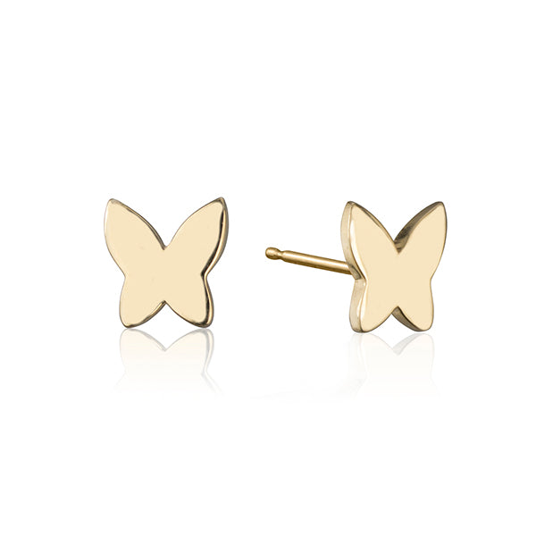 lafia collection butterfly stud yellow gold