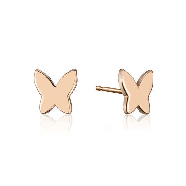 lafia collection butterfly stud rose gold