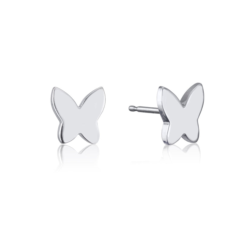 lafia collection butterfly stud white gold