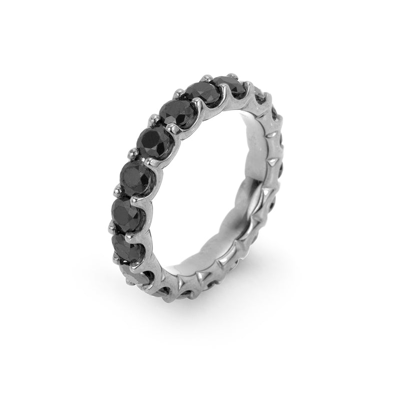 lafia midnight black diamond eternity ring white gold