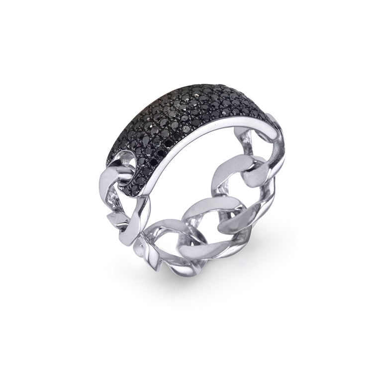 BLACK DIAMOND ID RING