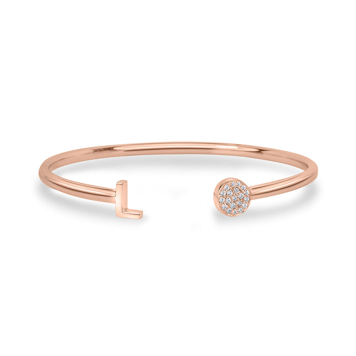 lafia name it diamond bangle rose gold