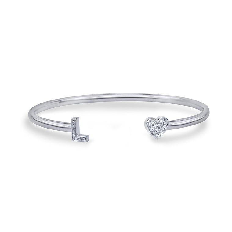 NAMEIT DIAMOND TWO CHARACTER BANGLE