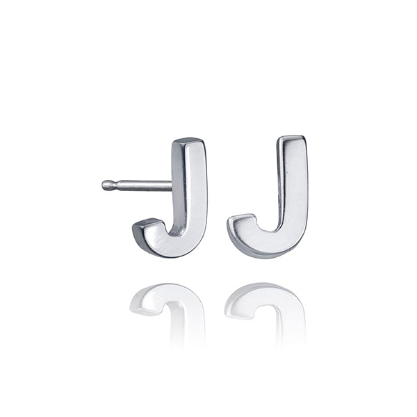 lafia name it initial stud white gold alternate letter