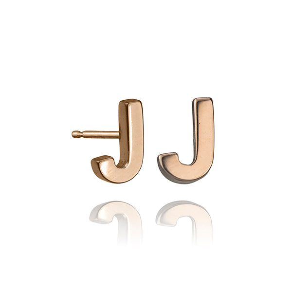 lafia name it initial stud rose gold