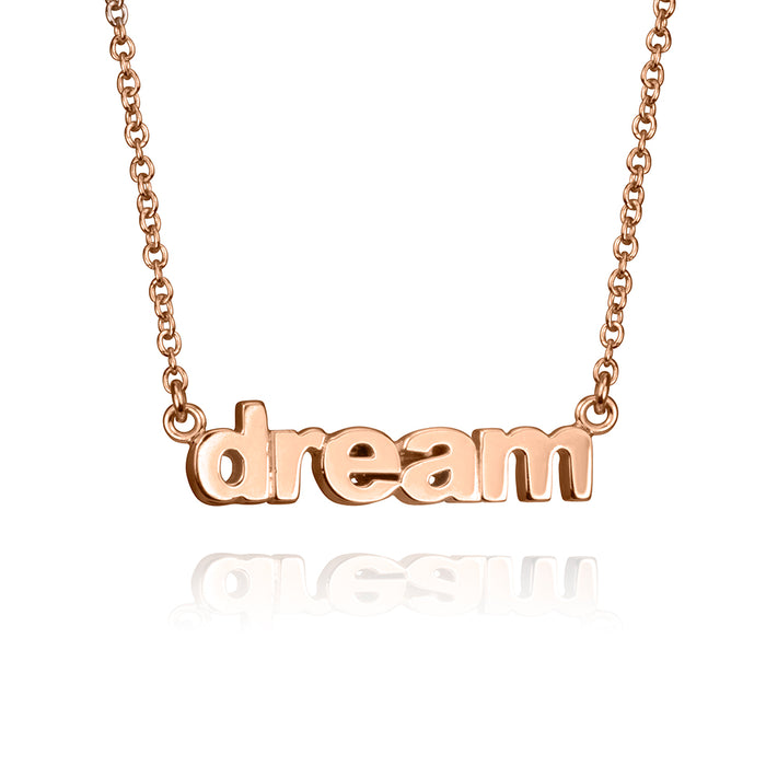 lafia name it petite personalized necklace rose gold