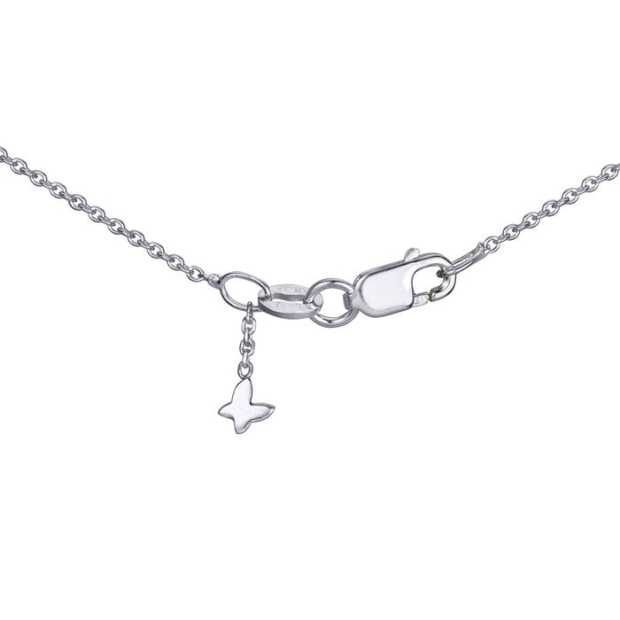 lafia name it petite personalized necklace white gold signature clasp