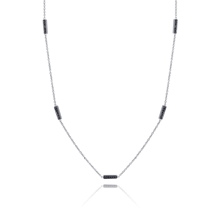BLACK DIAMOND LINE NECKLACE