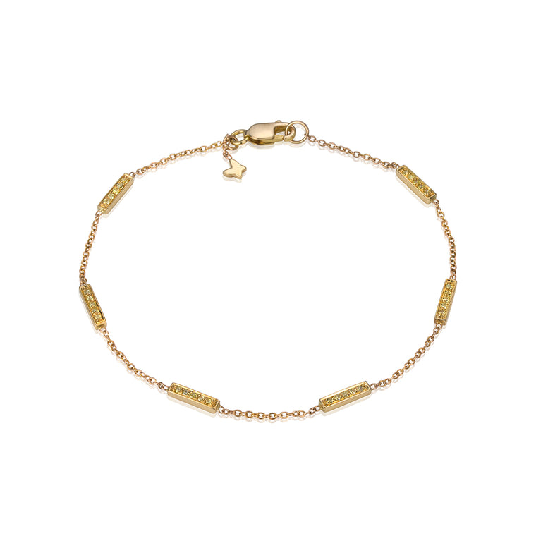 CANARY DIAMOND LINE BRACELET