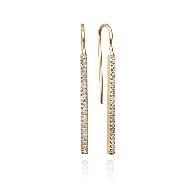 DIAMOND FRENCH HOOK EARRINGS