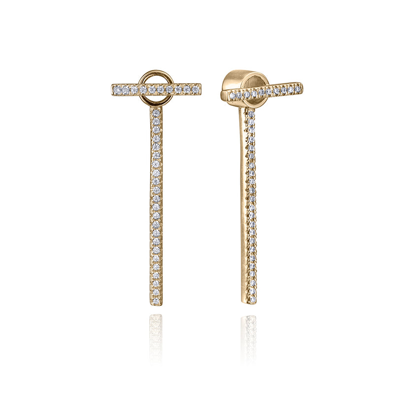 lafia straight and narrow diamond line and jacket earrings yellow gold