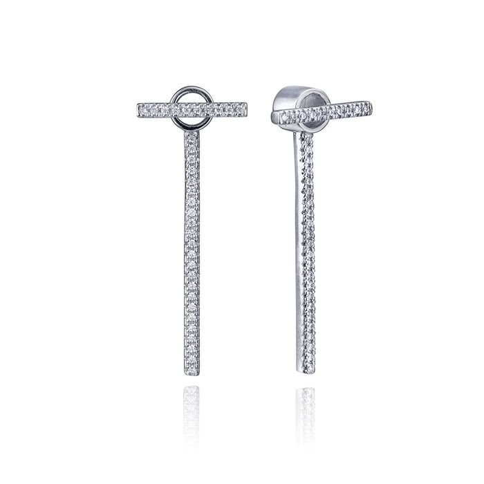 lafia straight and narrow diamond line and jacket earrings white gold