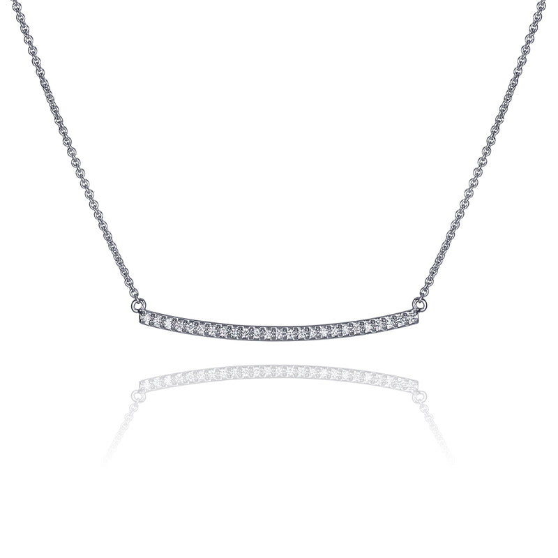 lafia straight and narrow diamond narrow necklace white gold