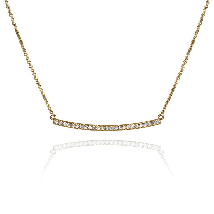lafia straight and narrow diamond narrow necklace yellow gold