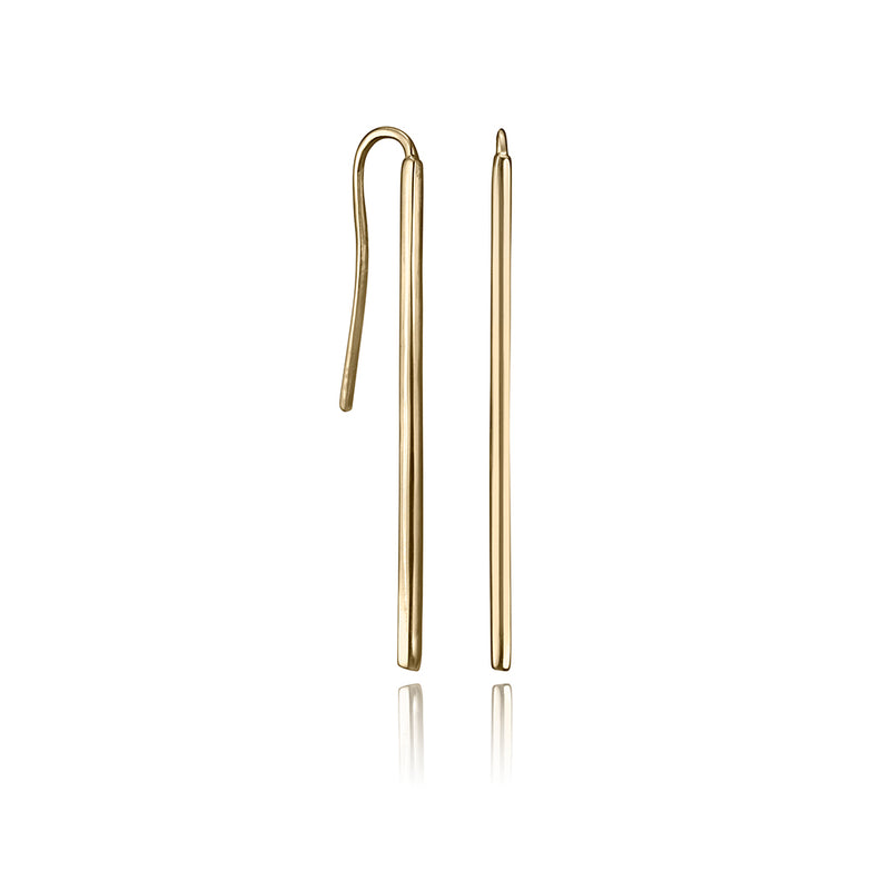 lafia straight and narrow french hook earrings yellow gold