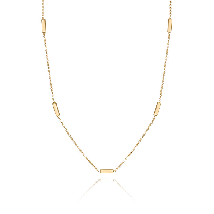 lafia straight and narrow line segment necklace yellow gold