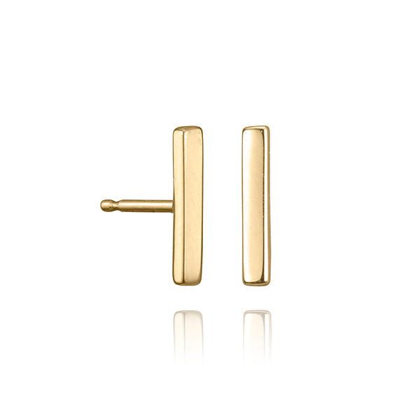 lafia straight and narrow line stud yellow gold