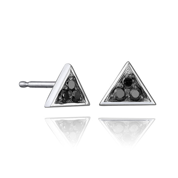 BLACK DIAMOND TRIANGLE STUD