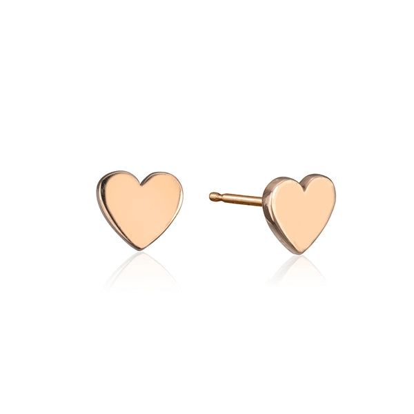 lafia stud collection heart stud rose gold