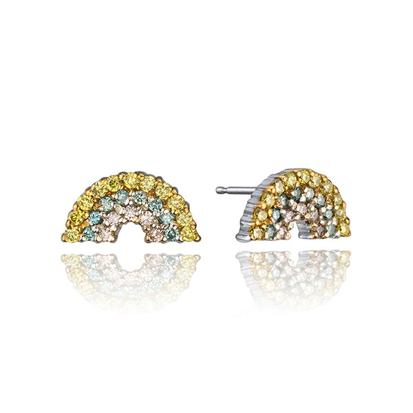 RAINBOW DIAMOND STUDS