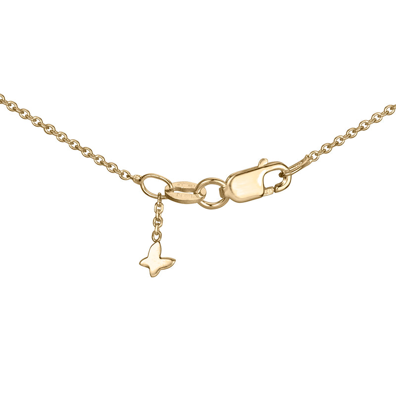 lafia V collection diamond triangle by the yard necklace yellow gold signature clasp