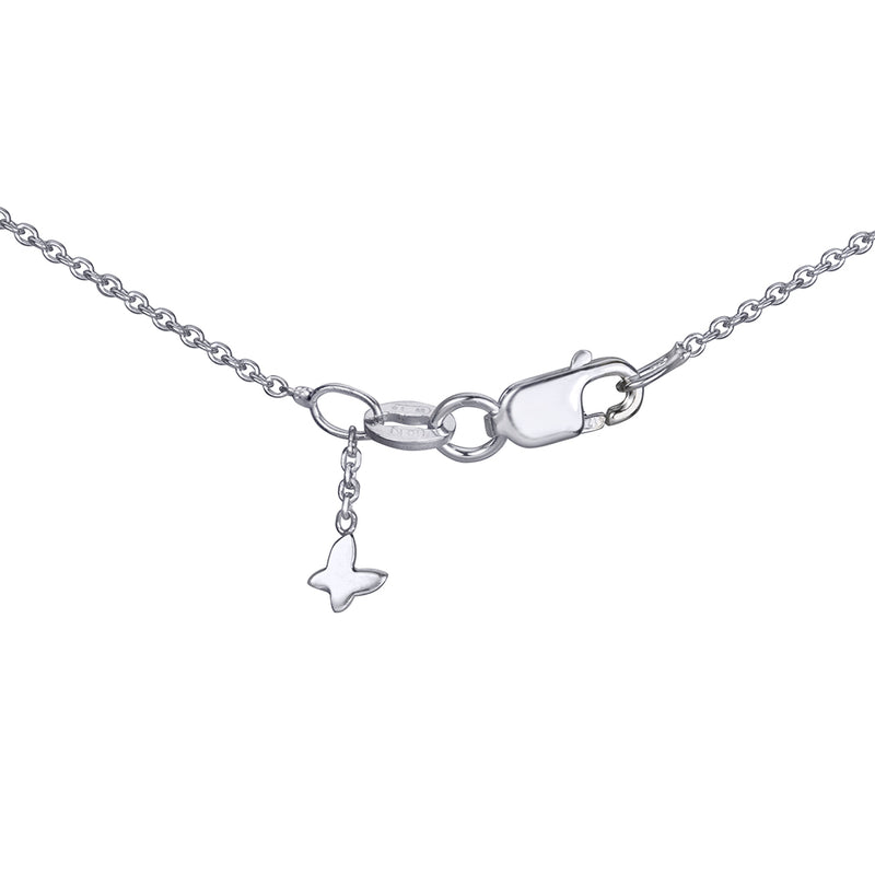 lafia V collection diamond triangle necklace white gold signature clasp