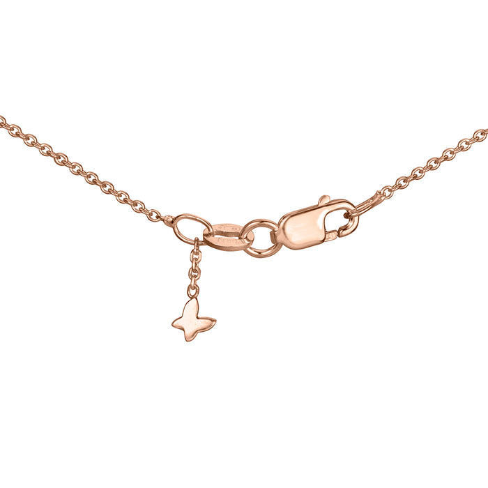 lafia V collection triangle by the yard necklace rose gold signature clasp