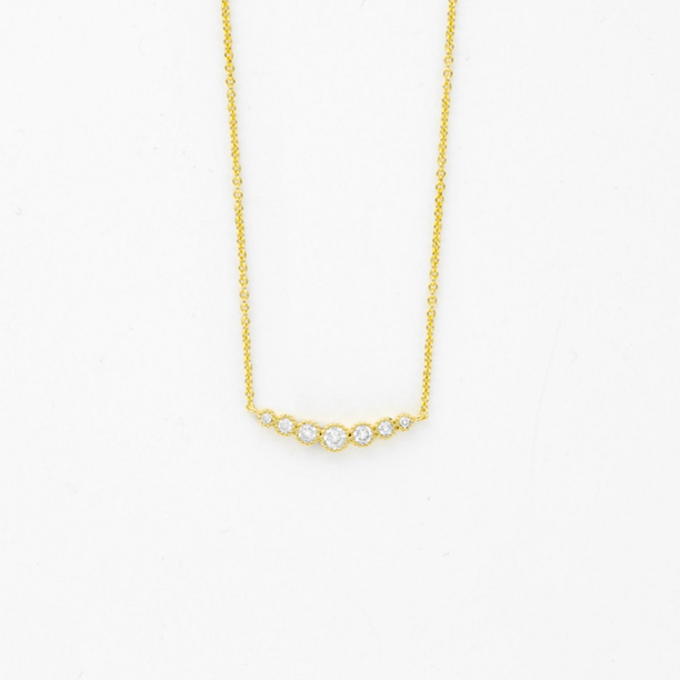 collar barra cristal brass oro