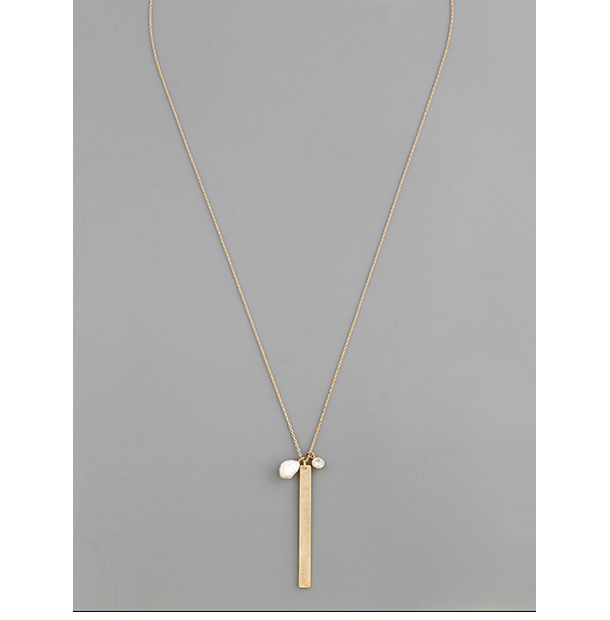 Collar piedra rio barra gold