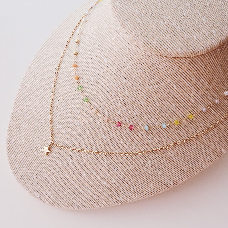 Collar doble star mini full colores