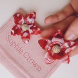 Arete flower dream rojo