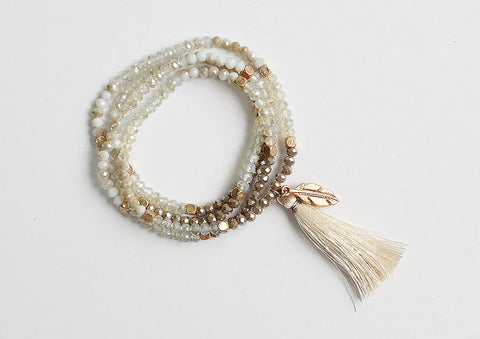 2in1 Pulsera / Collar beads borla