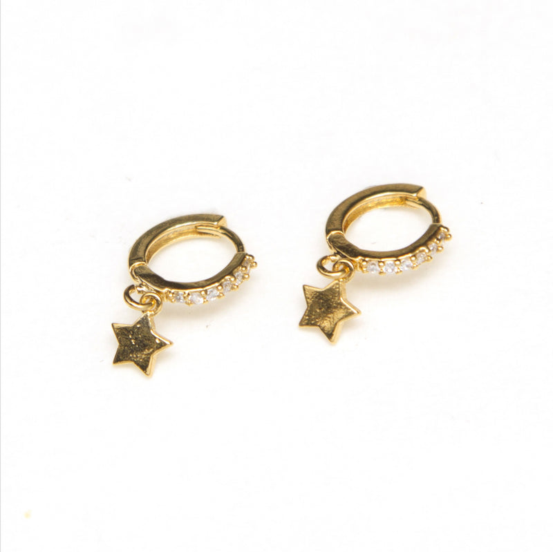 Mini argolla cristal star 14k